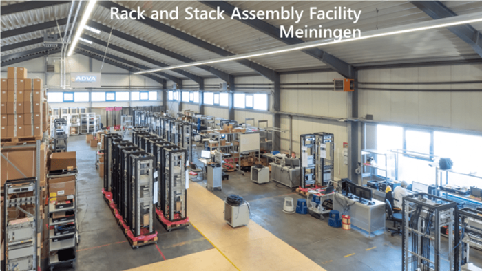 Rack and stack assembly facility Meiningen